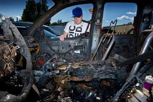 När Jimmy skulle köra till jobbet förra fredagen var hans bil helt utbränd.