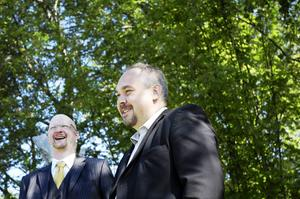 Roger Boork och Christian Söderberg som är affärsområdeschef för Åkroken Business Incubator.
