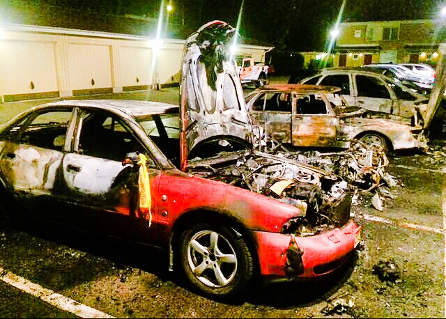 Misstankt sjalvmord bakom bilbrand 3
