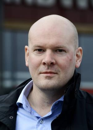 Fredrik Dahlgren, distriktschef på Jysk.