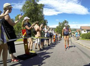 Charlotte Kalla tävlar i Sundsvall under fjolårets SM-vecka.