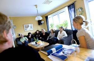 Det som i dag är personalrum var tidigare boendets gemensamma grupprum.