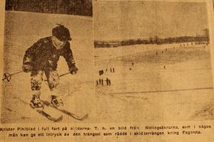 1952. Krister Pihlblad var en av alla skidåkare i Fagersta 1952.