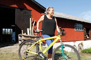 Kerstin Wahlfort gillar att ta sig fram på cykel. Oavsett var i världen hon befinner sig.