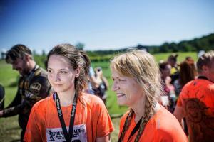 Elin Hill och Susanne Bäckström är nöjda med sina insatser.