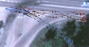 En bild ur den datasimulering med programmet pc-crash som använts av åklagarens expert.