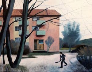 Maria Olssons konst har funnits kvar hos Christer B Jarlås ända sedan han såg den för tio år sedan - känslan lever kvar och den levande bildpoesin i de vardagliga motiven griper honom ännu.