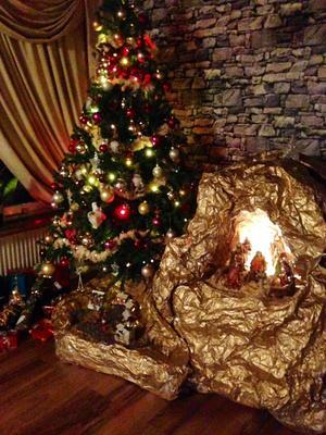 Jag vill gärna visa min fina julkrubba för alla Västmanlandsborna min fina julkrubba.