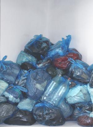 Madeleine Hansens plastsäckar – en hopfallen målning?