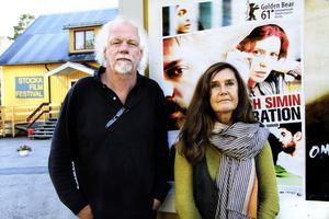 Nils Olof Hedenskog och Yvonne Leff är stolta festivalarrangörer.