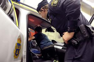 Besöket i polisbilen var uppskattat.