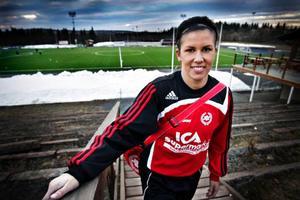 I fjol gjorde Emma Eriksson 15 mål för sitt Frösön.  I år tänker hon bättra på den statistiken.