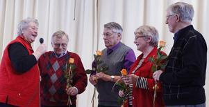 Hasse Carlbom, Willy Eriksson, Gunhild Carlbom och Hans Thumström representerade Ljusdals PRO och vann årets kamp mellan kommunens orter i Vi i 65:an.