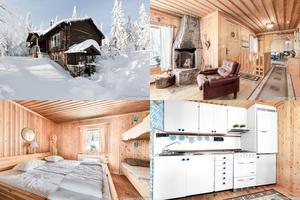 På Falkstigen 21 när Högfjället och Lindvallen ligger det här fritidshuset med utgångspris 1,5 miljoner kronor.
