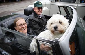 Årets upplaga av VB Grand Run samlade drygt 60 bilar, merparten glänsande amerikanare och entusiastbilar. Ronny Göthberg hade hustrun Lisa och hunden Gizmo som passagerare. Men här var det inte frågan om något vräkigt