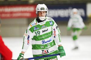 Martin Landström fick utgå skadad redan efter en kvarts spel mot Vänersborg.