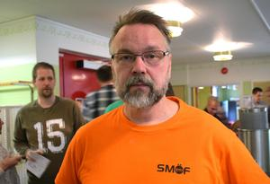 Ola Hallgren, mikrobryggare från  Söderbärke som visade upp hantverket och bryggkunskaperna under ölmässan SMÖF 2017.