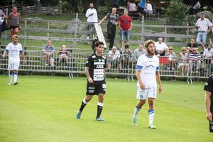 Diego Montiel för VSK borta mot Akropolis i Svenska cupen 2014 där han dominerade stort.