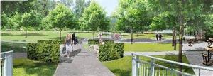 En stramare och prydligare huvudentré skulle lyfta det första intrycket av parken.