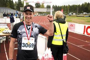 Andreas Svanebo vann herrarnas halvmarathon för tredje året i rad.