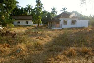 Från början fanns bara ett gammalt hus i portugisisk stil.