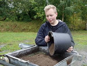 Studenten Ole Husby från Trondheims universitet deltog i arbetet med undersökningen.
