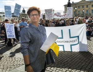 Vårdförbundets ordförande Sineva Ribeiro. Arkivbild. Foto Thomas Johansson / TT