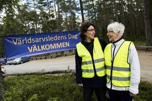 Anna Renström och Anna Greta Tjäder på Världsarvsledens dag i juni.