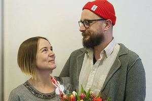 Marita Söderström och Emil Eriksson.