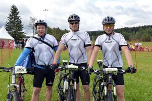 Daniel Sedin med bröderna Stefan och Peter var tre av 10900 startande i Cykelvasan.