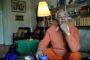 """""""Den bästa boken har man aldrig gjort, den har man alltid kvar"""", säger Lennart Hellsing."""