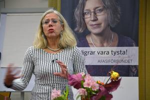 Under förmiddagen föresläste Rita Ehrenfors om hjärnskaderehabilitering.