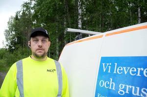 Gunnar Asplund är som arbetsledare tacksam gentemot de bilister som håller sig till hastighetsbegränsningarna.