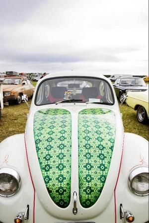Bland alla stora vräkiga amerikanare trängdes också en och annan VW Bubbla.