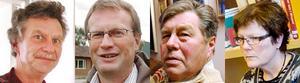 Pietro Rödin, Torsten Medalen, Stig Göransson och Lena Olsson kunde inte komma fram till nåt beslut i skolfrågan i Berg vid kommunfullmäktigesammaträdet.