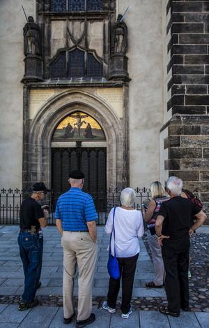 Porten på slottskyrkan i Wittenberg där Martin Luther ska ha spikat upp sina 95 teser som förändrade världen