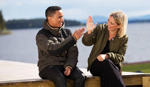 Jon Henrik Fjällgren och Petra Marklund.