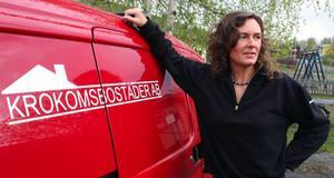Annelie Nilsson heter Krokomsbostäders första kvinnliga reparatör.