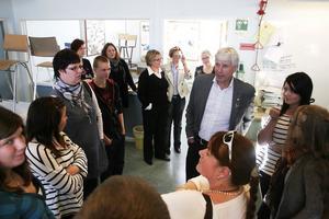 Som en start i ett utbyte mellan politiker och ungdomsrådet, träffades de på Bergsjö centralskola för att lyssna till varandras tankar och önskemål.