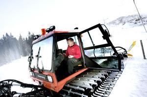 Cool kille. Vaktmästare Lasse Nilsson hoppas på att kylan håller i sig.