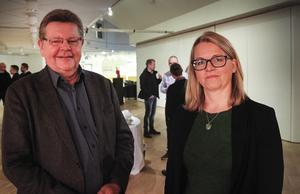 Lars Olov Johansson, Teknikföretagen, och professor Monica Belgran, vill höja takten i digitaliseringen.
