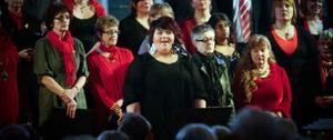 Kajsa Blank hörde till de bejublade solisterna vid julkonserten.