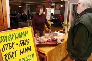 Av Lisa Thorén kunde man köpa kött som hör påsken till.