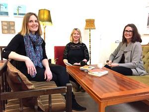 Jessica Forsling, Hanna Eklund och Helena Öberg öppnar nu Karins Magasin, en modern litterär salong i Västerås som sätter bildningen är i fokus.