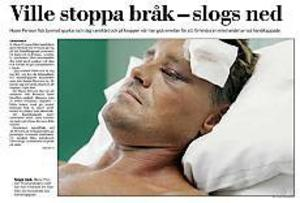 Gefle Dagblad den 27 augusti 2002.