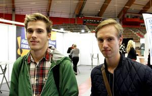 Muhamed Mahmutovic och Alex Molina var nöjda med besöket på Företagarforum i Sandviken.