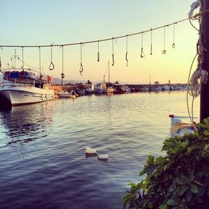 Den grekiska ön Lesbos.