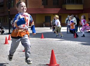 Marius Åström var riktigt i form och sprang både Mini-Max loppet och Stadsloppet.