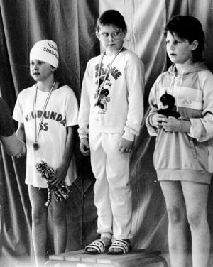 Lilla Sälsimmet 1986 med trion Therese Karlsson, Anna Bendert och Jenny Lindh på prispallen. I år firar tävlingen 30-årsjubileum.