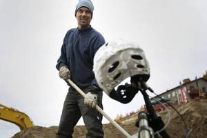 Jon Wagenius ligger bakom den nya cykelbanan i Funäsdalen.